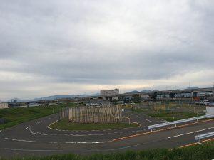 Ajoharjoittelurata keskellä ei-mitään (= Shiroishissä) heinäkuussa 2017